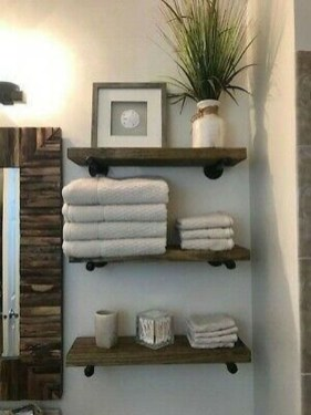 Industrial Bathroom Shelves Design Ideas26