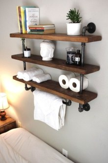 Industrial Bathroom Shelves Design Ideas31