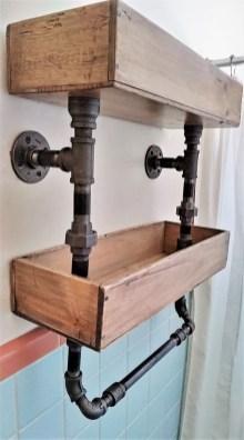 Industrial Bathroom Shelves Design Ideas34