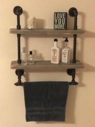 Industrial Bathroom Shelves Design Ideas40