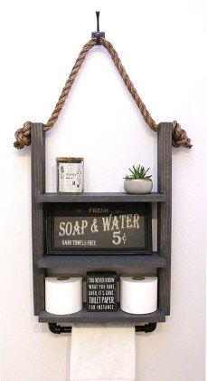 Industrial Bathroom Shelves Design Ideas42