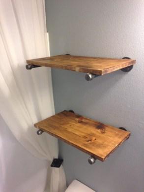 Industrial Bathroom Shelves Design Ideas43