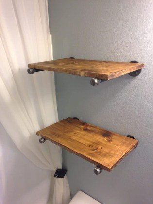 Industrial Bathroom Shelves Design Ideas43