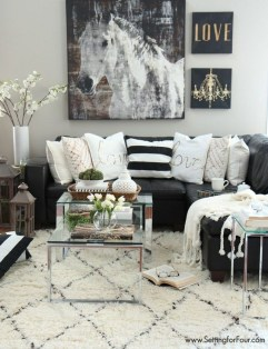 Luxury Black Leather Living Room Sofa Ideas For Comfortable Living Room02