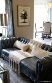 Luxury Black Leather Living Room Sofa Ideas For Comfortable Living Room11
