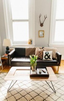 Luxury Black Leather Living Room Sofa Ideas For Comfortable Living Room12