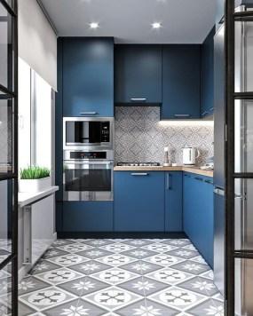 Wonderful Blue Kitchen Design Ideas36