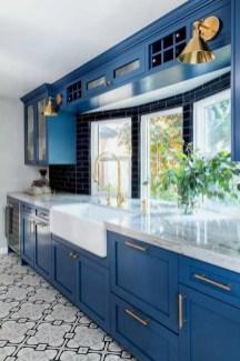 Wonderful Blue Kitchen Design Ideas39