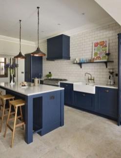 Wonderful Blue Kitchen Design Ideas40