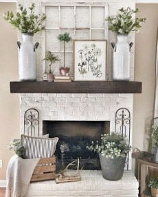 Wonderful Farmhouse Decor Ideas With Beautiful Greenery14