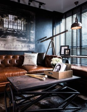 Wonderful Industrial Rustic Living Room Decoration Ideas You Have Must See15
