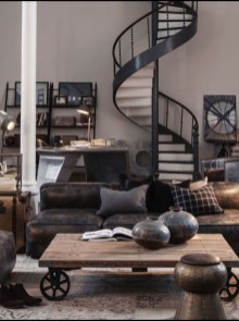 Wonderful Industrial Rustic Living Room Decoration Ideas You Have Must See22