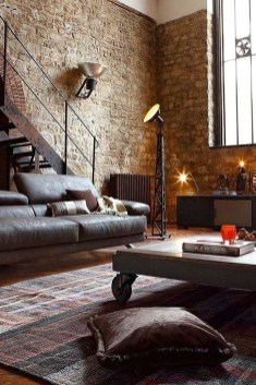Wonderful Industrial Rustic Living Room Decoration Ideas You Have Must See25