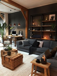Wonderful Industrial Rustic Living Room Decoration Ideas You Have Must See30