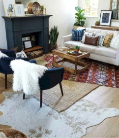Wonderful Living Room Rug Layering Combination For Sweet Home04