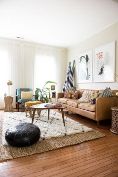 Wonderful Living Room Rug Layering Combination For Sweet Home06