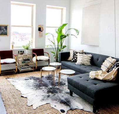 Wonderful Living Room Rug Layering Combination For Sweet Home15