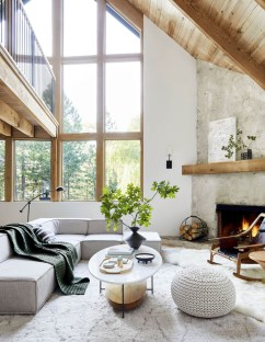 Attractive Lake House Living Room Decor Ideas02