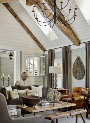 Attractive Lake House Living Room Decor Ideas17
