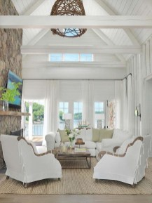Attractive Lake House Living Room Decor Ideas22