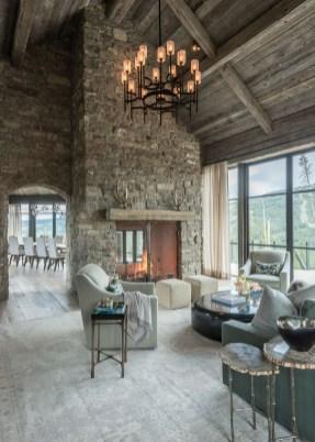 Attractive Lake House Living Room Decor Ideas24