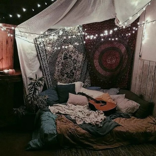 Cozy Diy Bohemian Bedroom Decor Ideas32