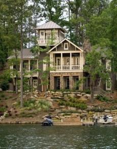 Creative Lake House Exterior Designs Ideas30