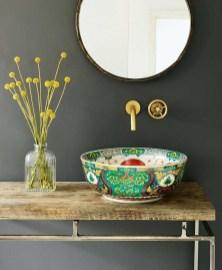 Elegant Bathroom Sink Decorating Ideas For Bathroom50
