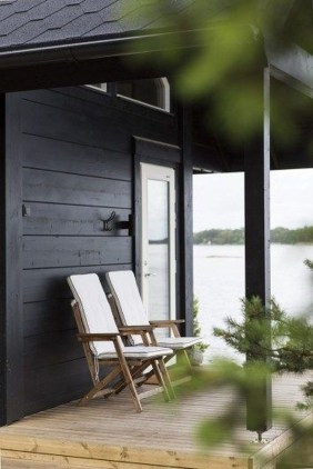 Incredible Homes Decorating Ideas With Black Exteriors24