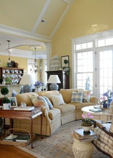 Perfect French Country Living Room Design Ideas13