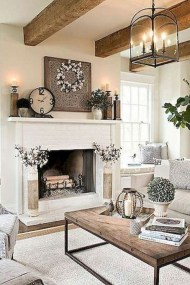 Perfect French Country Living Room Design Ideas20