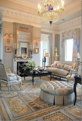 Perfect French Country Living Room Design Ideas25