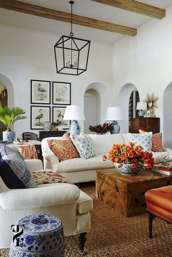 Perfect French Country Living Room Design Ideas39