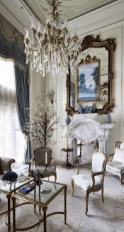 Perfect French Country Living Room Design Ideas40