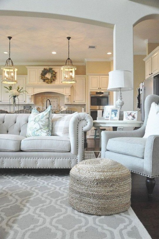 Perfect French Country Living Room Design Ideas45