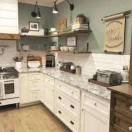 Pretty Farmhouse Kitchen Makeover Design Ideas On A Budget05