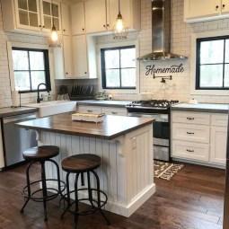 Pretty Farmhouse Kitchen Makeover Design Ideas On A Budget09