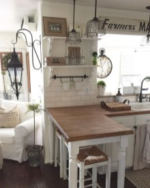 Pretty Farmhouse Kitchen Makeover Design Ideas On A Budget38