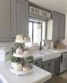 Pretty Farmhouse Kitchen Makeover Design Ideas On A Budget45