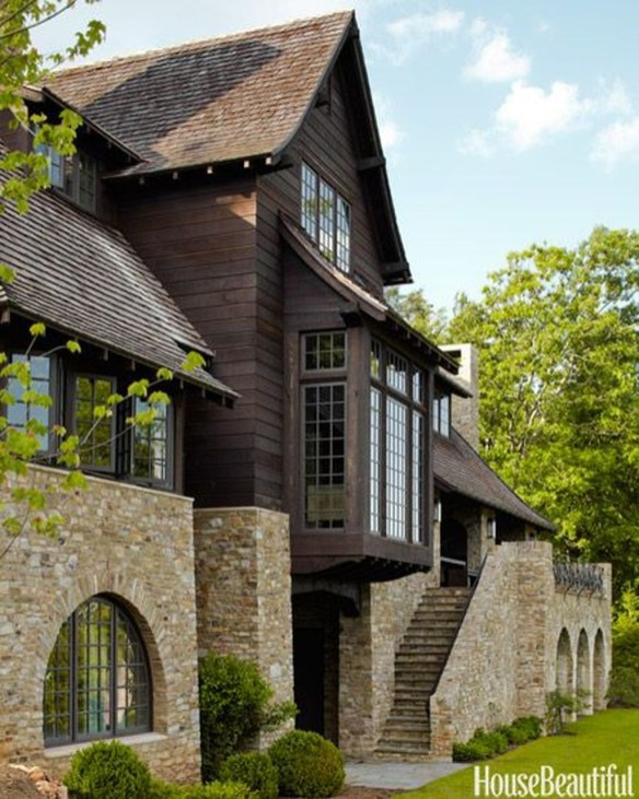 Pretty Stone House Design Ideas On A Budget40