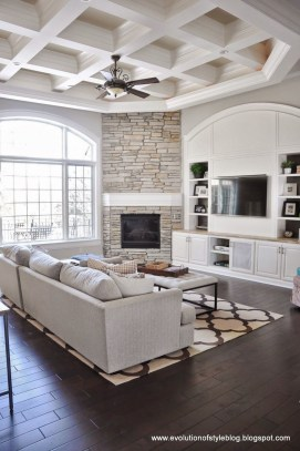 Relaxing Living Rooms Design Ideas With Fireplaces26