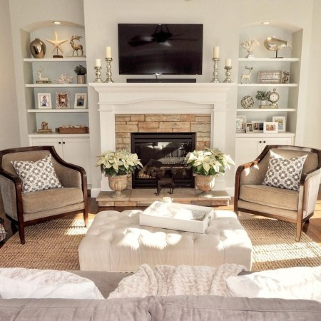 Relaxing Living Rooms Design Ideas With Fireplaces32