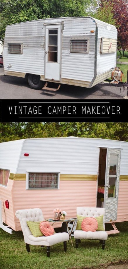 Shabby Chic Trailer Makeover Renovation Ideas45