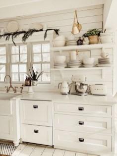 Stylish Farmhouse Kitchen Cabinet Design Ideas19