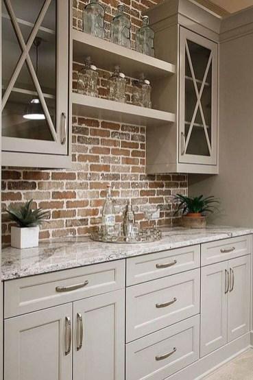 Stylish Farmhouse Kitchen Cabinet Design Ideas30