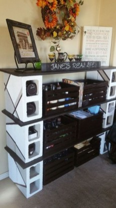 Unique Diy Cinder Block Furniture Decor Ideas26