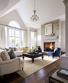 Cool Living Room Design Ideas With Fireplace To Keep You Warm This Winter03