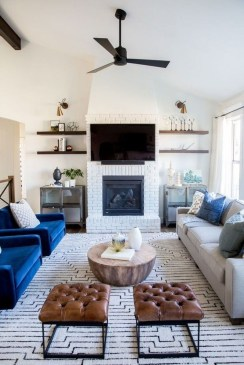 Cool Living Room Design Ideas With Fireplace To Keep You Warm This Winter07