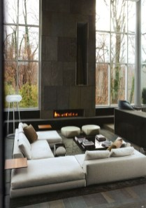 Cool Living Room Design Ideas With Fireplace To Keep You Warm This Winter10