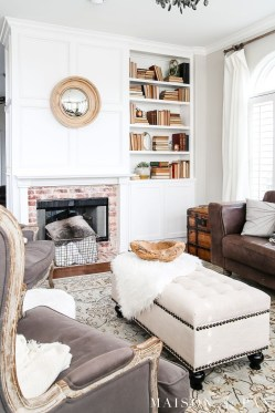 Cool Living Room Design Ideas With Fireplace To Keep You Warm This Winter17